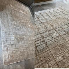 voor en na tapijt reiniging