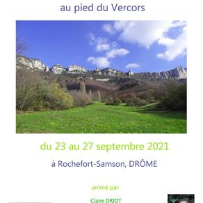 Séjour Vitalité-Créativité dans la Drôme, septembre 2021
