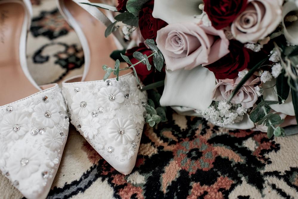 Wedding Shoes, Bouquet, Vintage, Photography