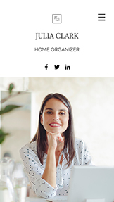 Företag website templates – Home Organizer