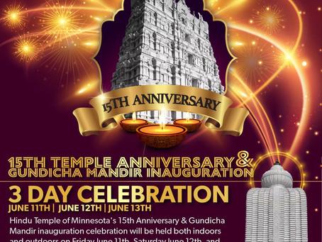 15th Anniversary and Gundicha Mandir Inauguration