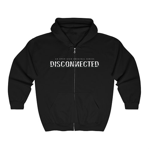 Disconnected - Full Zip Hooded Sweatshirt (Unisex)