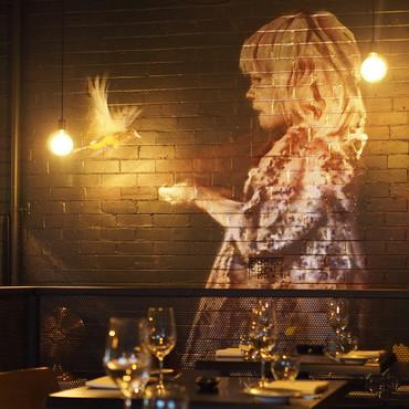The Loft Restaurant Mural