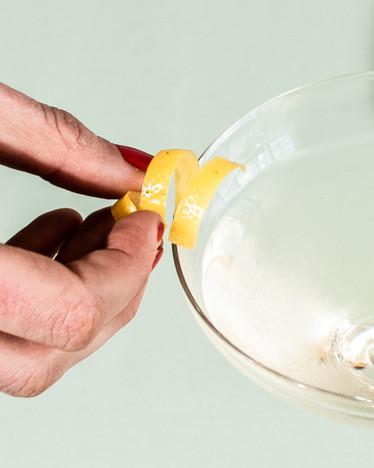 Lemon twist garnish