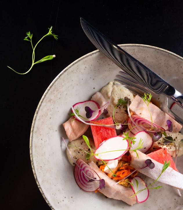 Pickled Salmon & Kimchi Salad