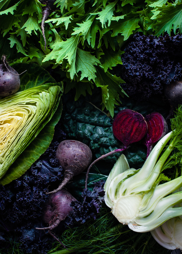 Organic Greens Flatlay