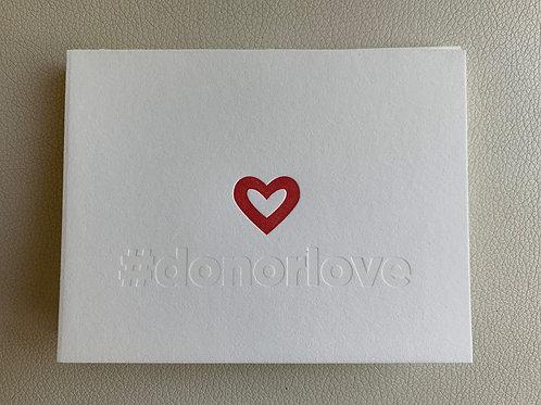 """""""#donorlove"""" card"""
