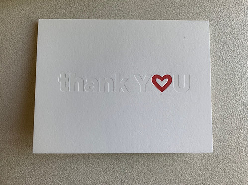 """""""thank you"""" card"""