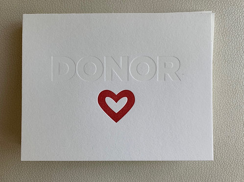 """Donor <3"" card"