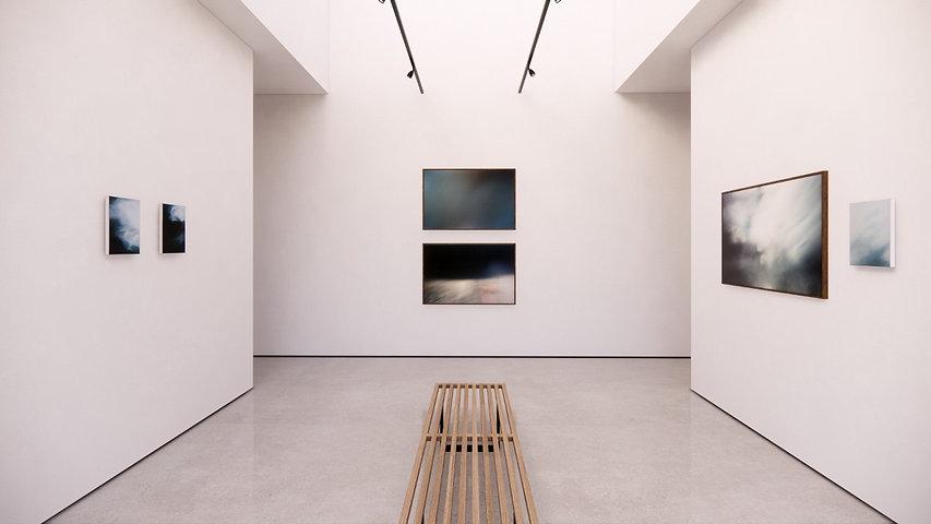 Andrea Franco. Vista de exhibición. Azul Distante.