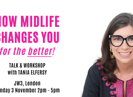 Join me in LONDON on 3 November for a talk and workshop!