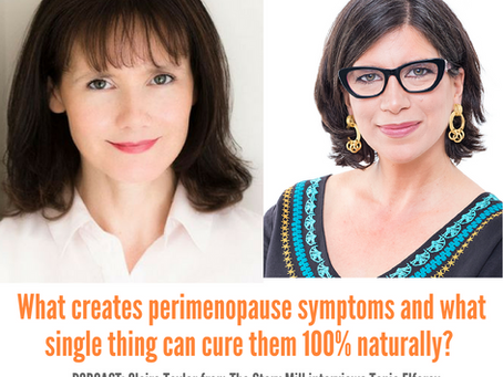 What creates perimenopause symptoms and what cures them 100% naturally?