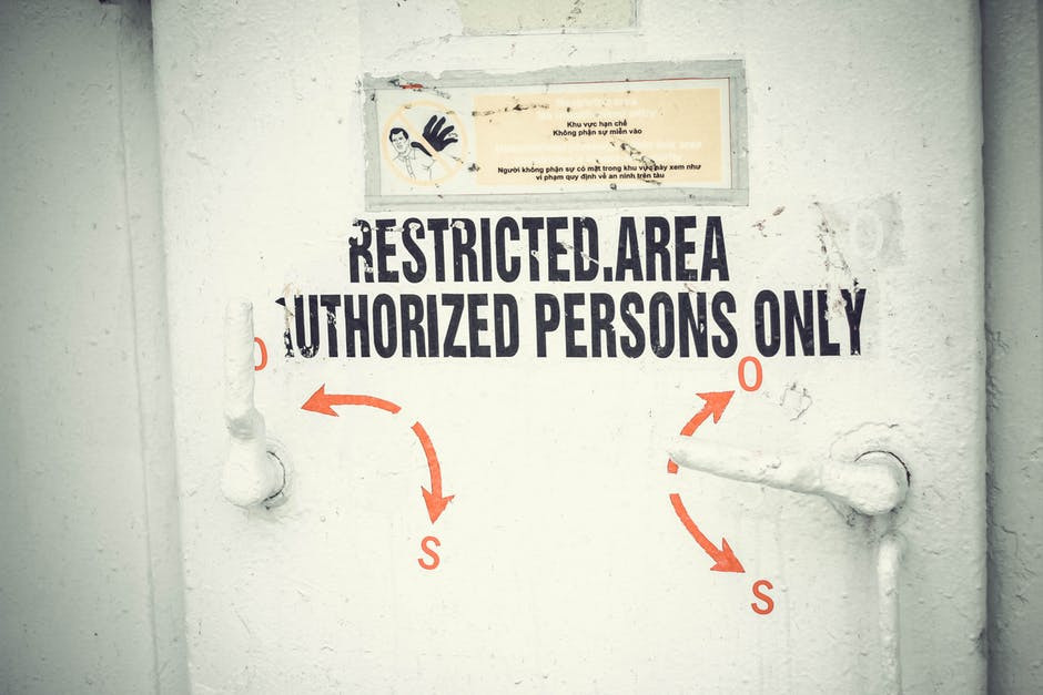 Restricted area authorized persons only GDPR for small business
