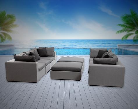 Bora Bora 8 Piece Converstional Set with Sunbrella Cushion