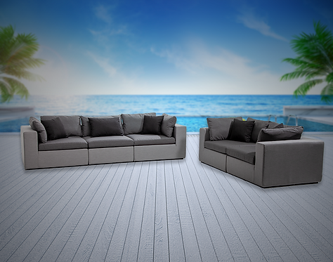 Bora Bora 5 Piece Sofa Set with Sunbrella Cushions