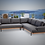 Thumbnail: Barbados Teak 2 Piece Sectional Group with Sunbrella Cushions