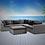 Thumbnail: Bora Bora 6 Piece Sectional Seating Group with Sunbrella Cushions