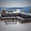 Thumbnail: Barbados Teak 3 Piece Sectional Group with Sunbrella Cushions
