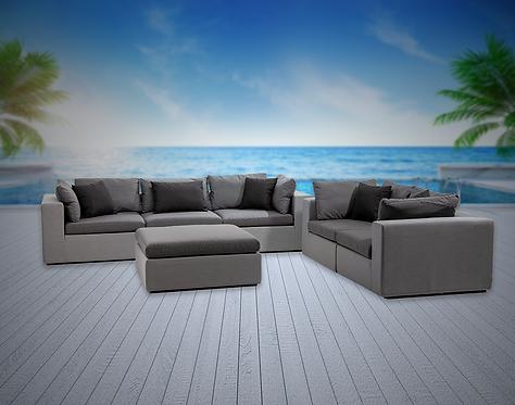 Bora Bora 6 Piece Sofa Set with Sunbrella Cushions