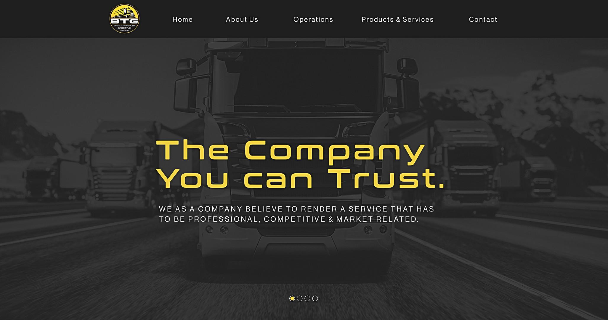 Britz Transport website UI-UX