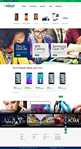 GloCell website and app