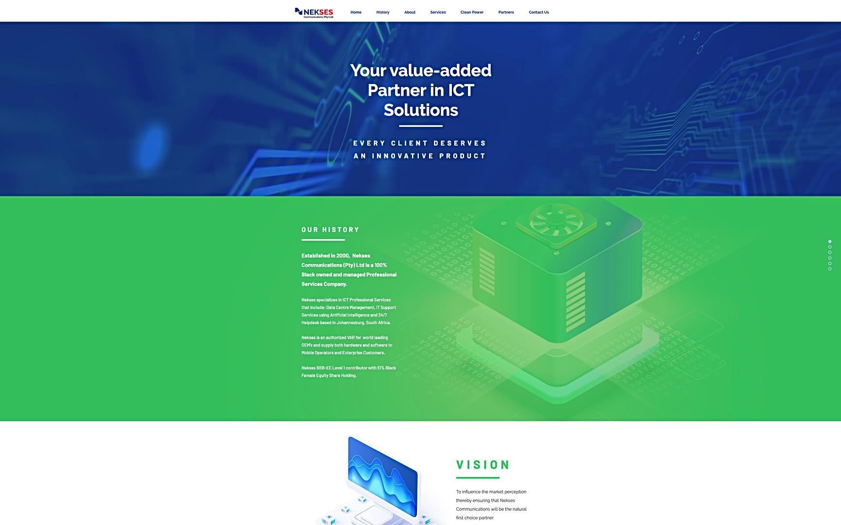 Nekses website UI-UX