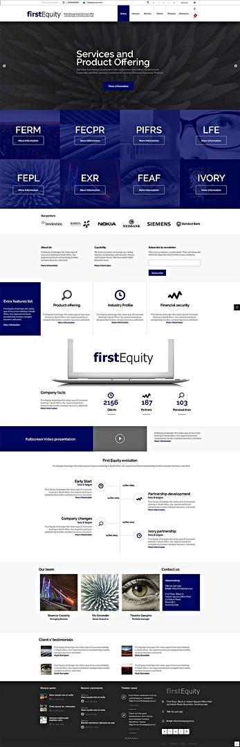 First Equity website