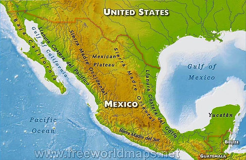 mexico-physical-map | Mexican Plateau