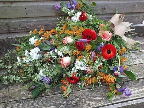 Tied sheaf #flowers #fresh #sympathy.jpg
