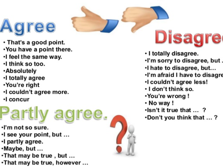Agree / disagree expressions