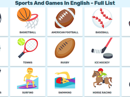 Learn sports vocabulary!
