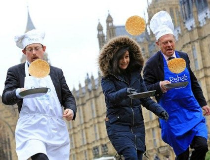 Pancake day race