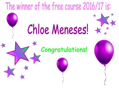 Nos complace anunciar la ganadora de este año del curso gratis!!!!!