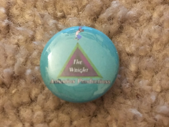 1 Inch The Wright Animation Productions Button