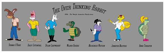 The Over Thinking Rabbit Cast Poster