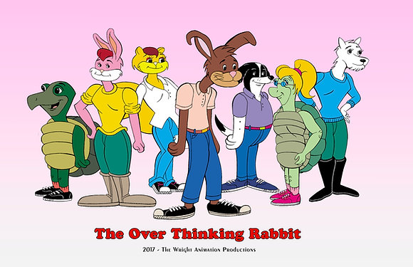 The Over Thinking Rabbit Poster