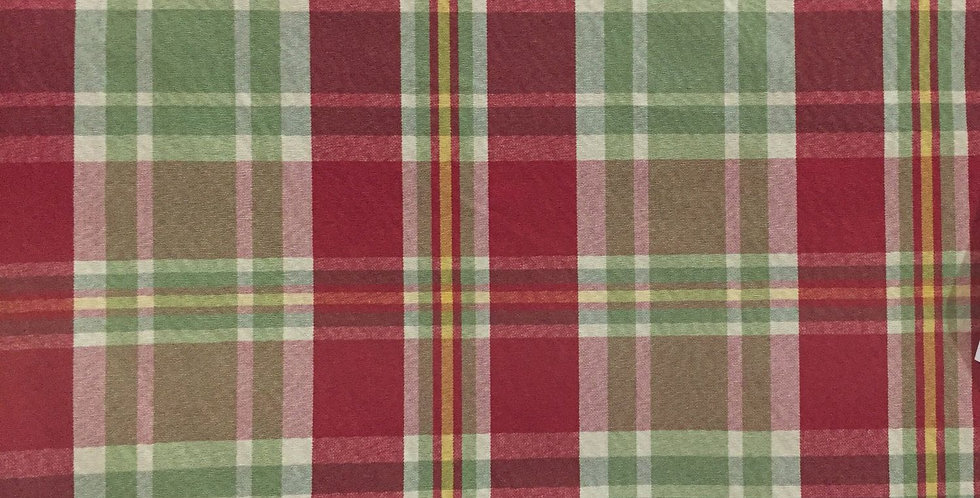 Plaid - Red, Green, Cream, and Yellow
