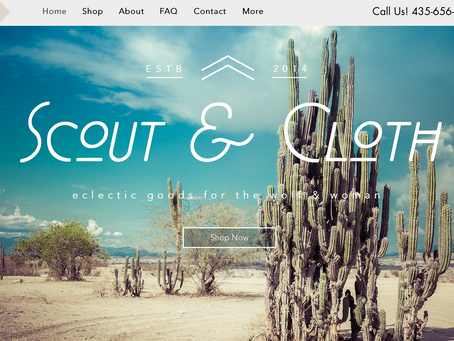 Experience the Hunt with Scout & Cloths New Website