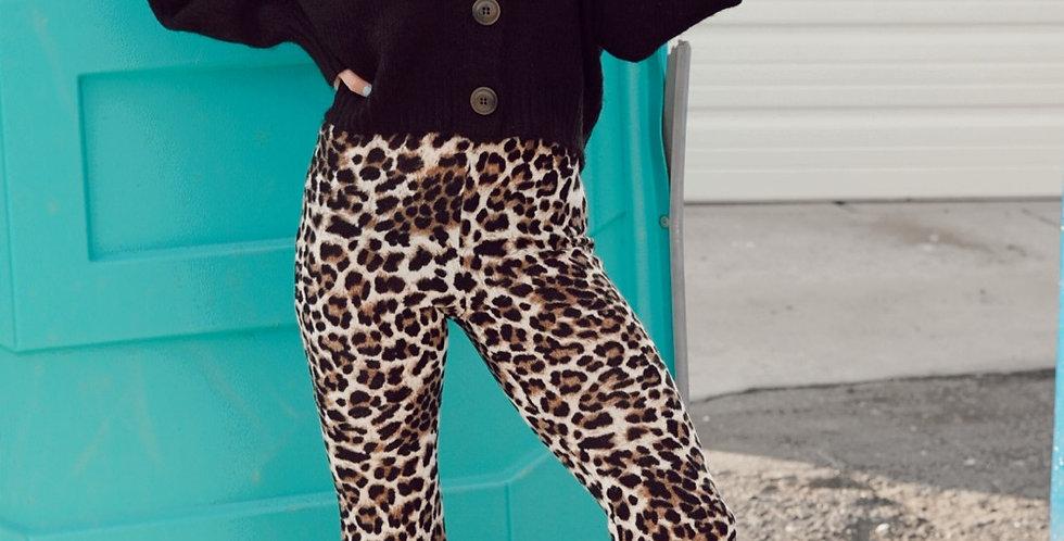 Julia leopard flare leggings