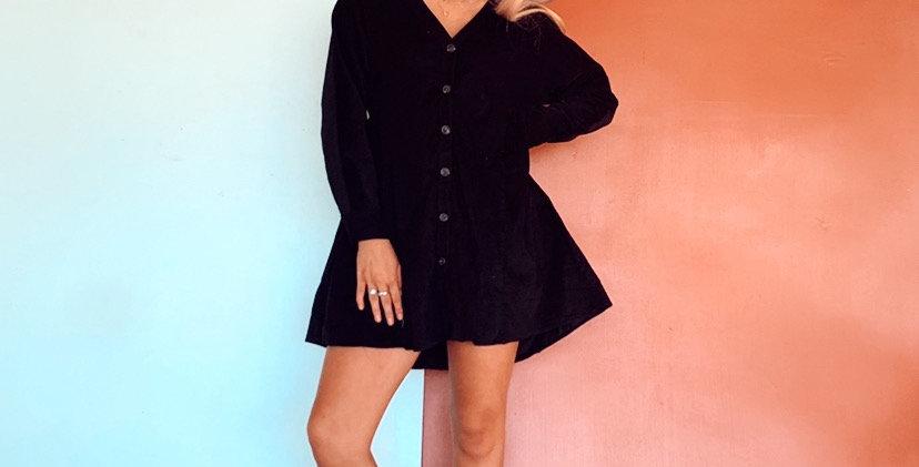 Raven Cord Dress