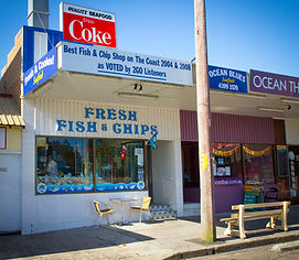 fish and chips budgewoi, ocean blues budgewoi, fish and chips central coast