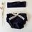 "Thumbnail: Bloomer bébé jersey bio   ""Bleu marine"""