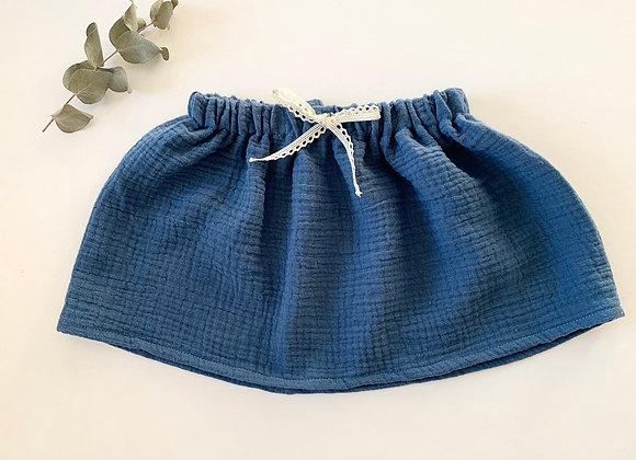 """Jupe bébé/fille Gaze de coton """"Bleu Capri"""""""