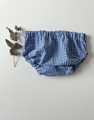 "Bloomer bébé/fille  ""Vichy bleu royal"""