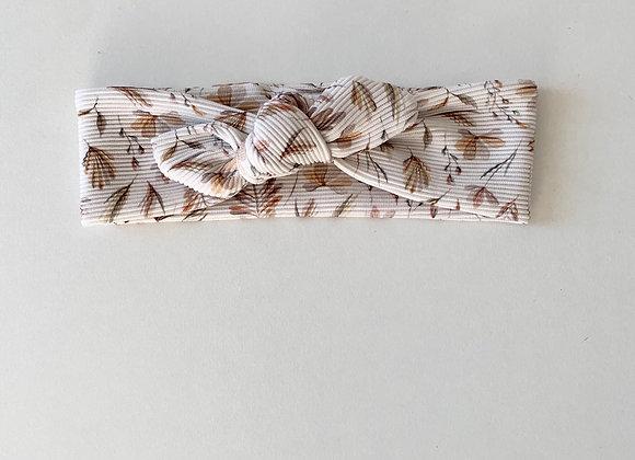 """Bandeau/chouchou jersey côtelé  """"Branches d'automne"""""""