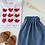 "Thumbnail: Jupe Femme Gaze de coton ""Bleu Capri"""