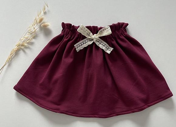 """Jupe bébé/fille froncée jersey  """"Bordeaux"""""""