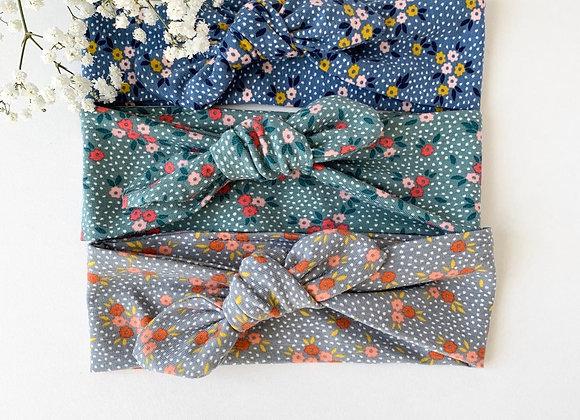 """Bandeau/chouchou jersey """"Flowers  """"(couleur au choix)"""