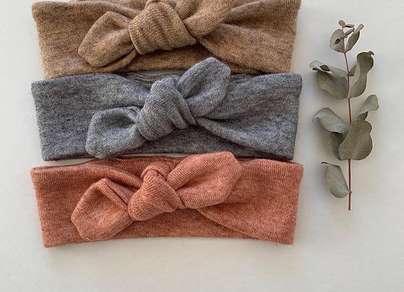 """Bandeaux/chouchou noeud """"Jersey maille """"(couleur au choix)"""