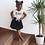"""Thumbnail: Jupe bébé/fille Gaze de coton """"Noire"""""""